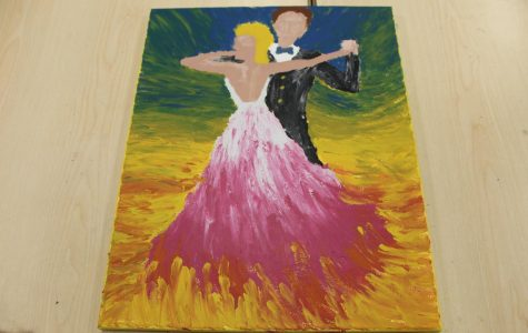 Avery Nagle's dancing couple portrait.