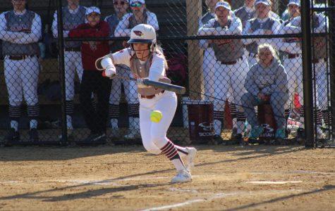 Kate Rittenbaugh batting during game against Tri-Valley.
