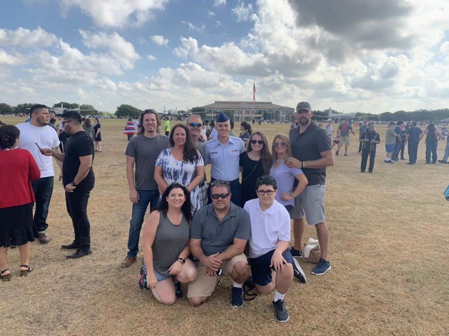 Dominick+Sgrignoli-Carricato%2C+his+family%2C+and+his+girlfriend%2C+Devyn+Biggs%2C+family+at+his+graduation+from+U.S.+Air+Force+Basic+Training+in+San+Antonio%2C+Texas.