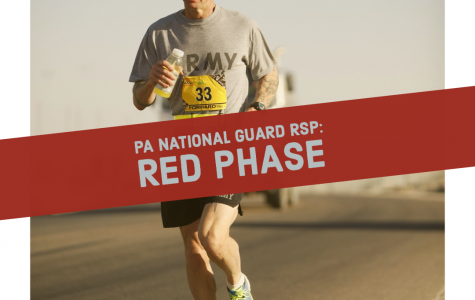 A Soldier doing PT, representing the PT everyone does during their first week of drill, Red Phase.