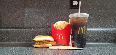 A photograph of the new Tay Keith Sandwich from McDonald