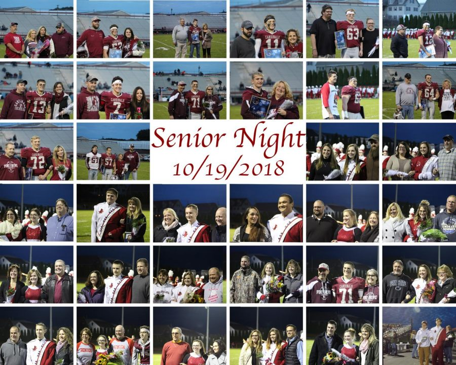 Senior night collage