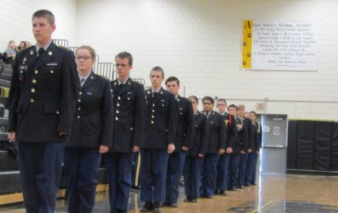 Drill Team Takes Place in Competition