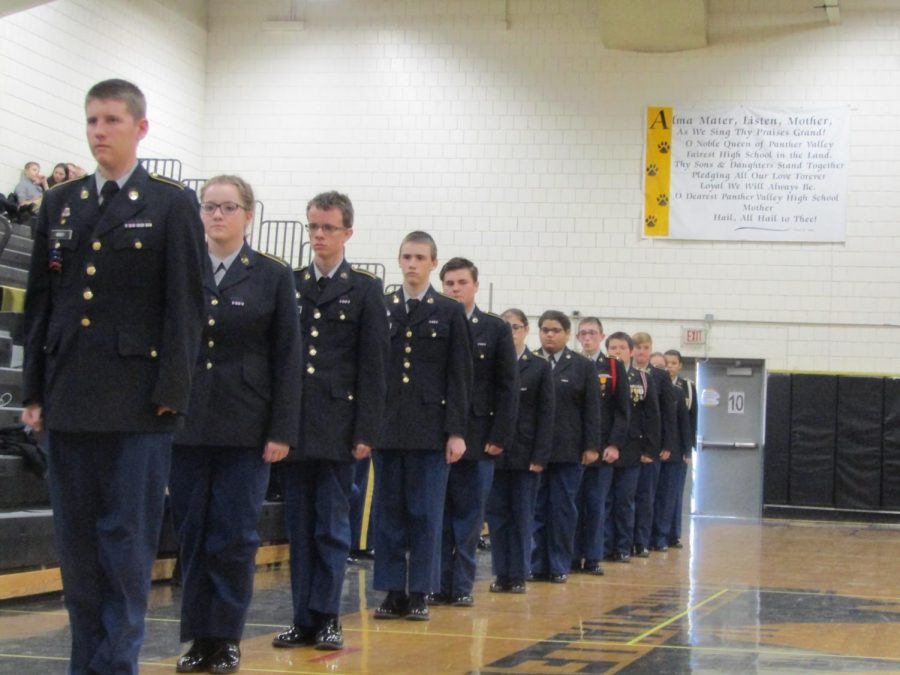 Pine+Grove+Area+Battalion+walking+into+their+Drill+Competition.+