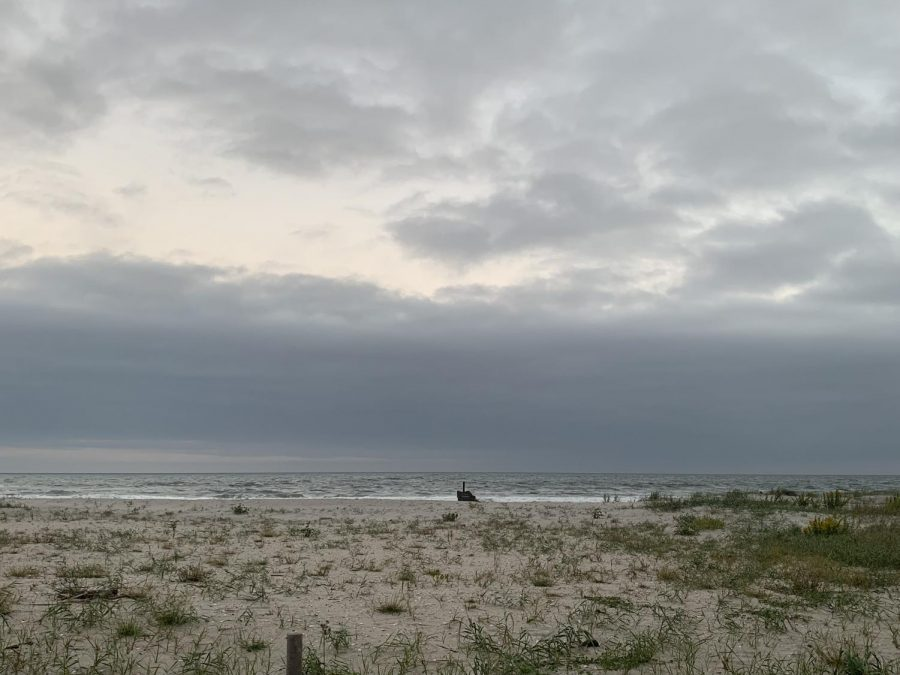 The beach in late October.