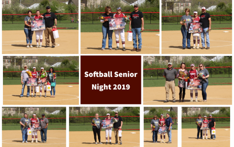 Lady Cards Stand Tall on Senior Night