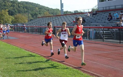 Cards Compete in Four Team Cross Country Meet