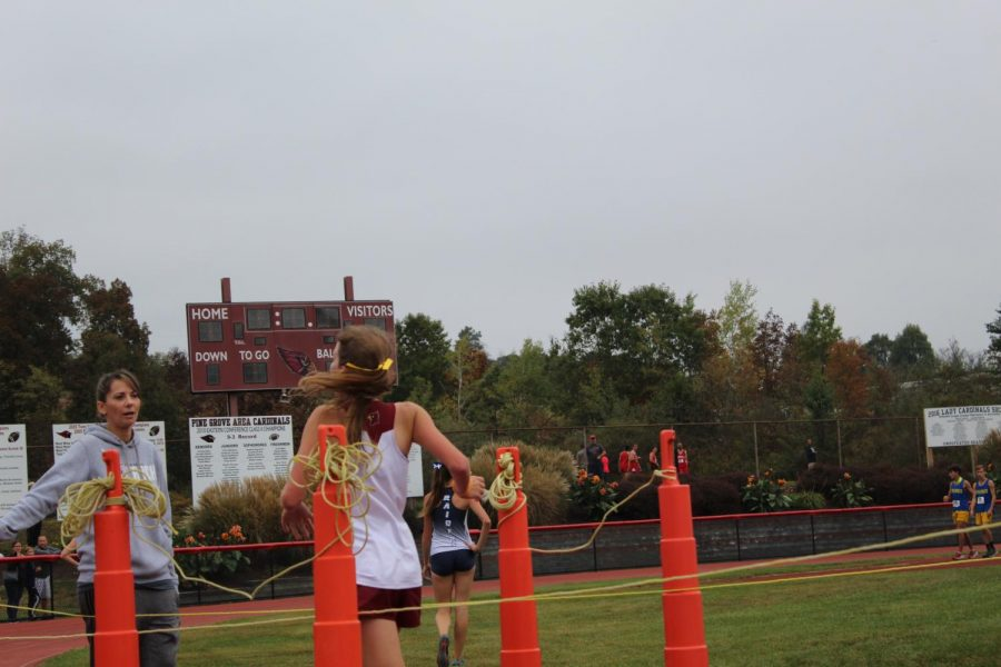 Mel Love crosses the finish line to earn herself fourth place the contest.