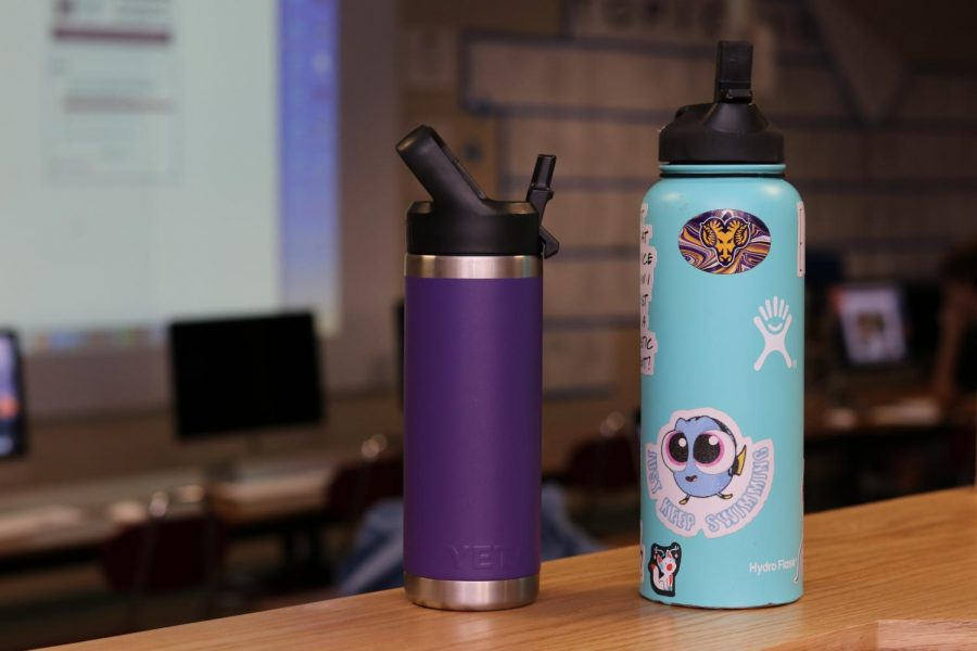 A Yeti and a Hydro Flask