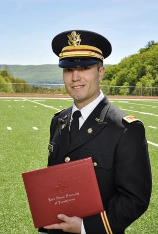 Donald Legarht on graduation day at Lock Haven University.