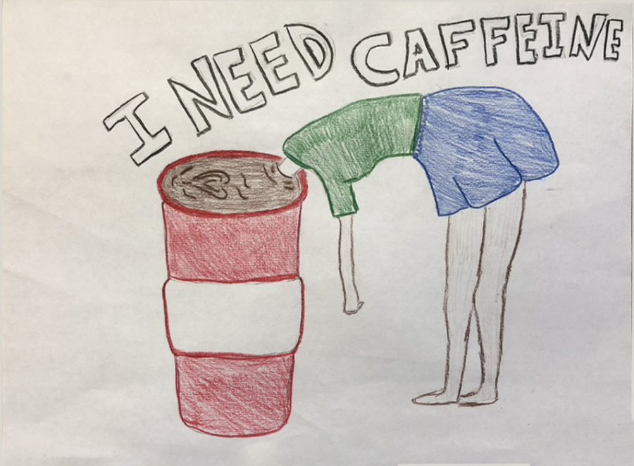 When people do not have their daily dose or intake of caffeine, they feel like the girl in the picture.