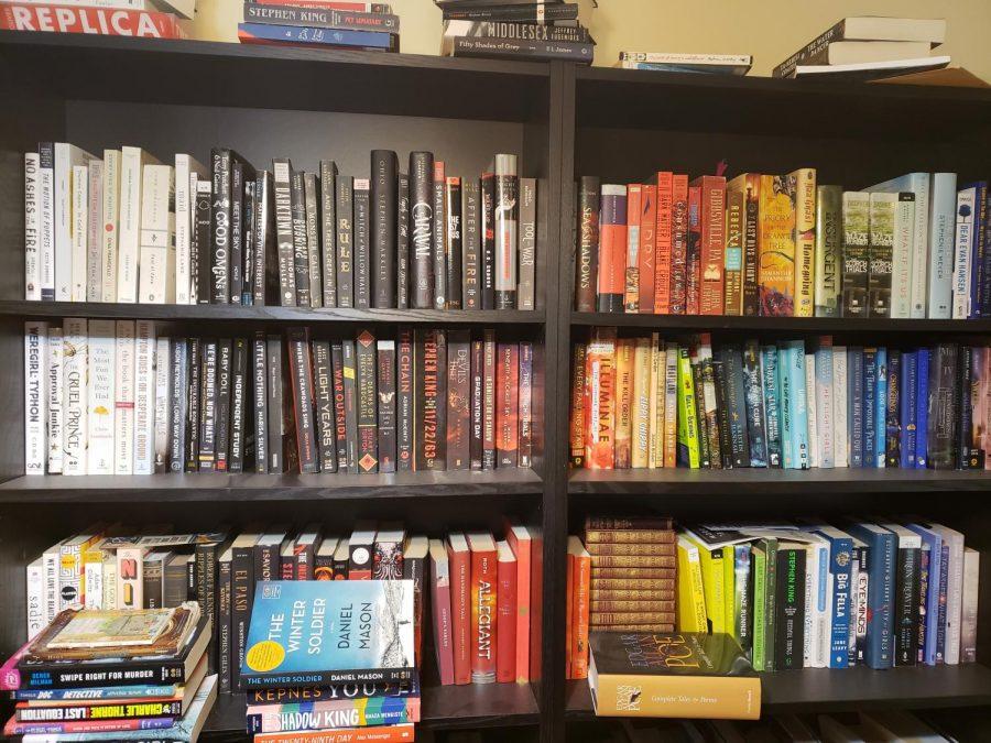 A photo of a full bookshelf.
