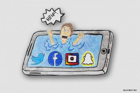 Student is drowning in social media water.