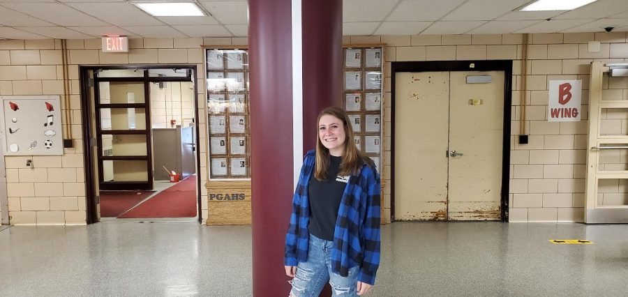 April 2021 Senior of the Month, Hallie Wolfe.