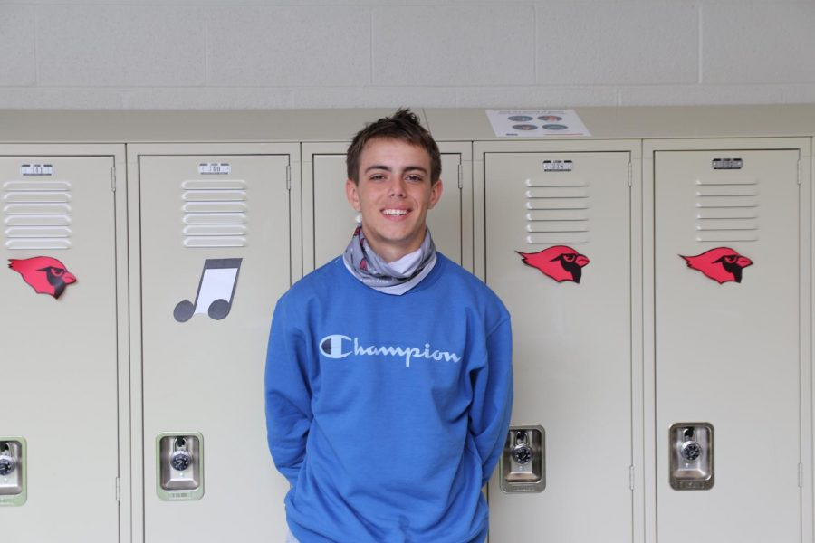 October 2020 Senior of the Month, Hunter Legarht.