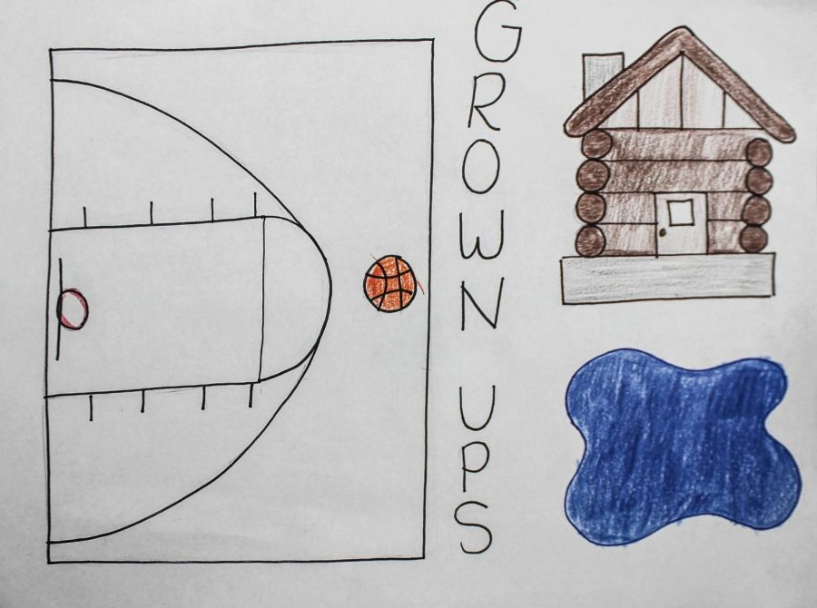 An artwork piece to represent the movie, Grown Ups.