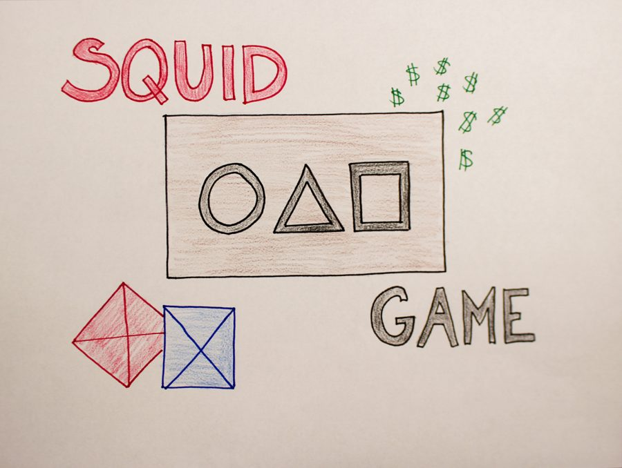 An artwork piece to represent the show Squid Game.